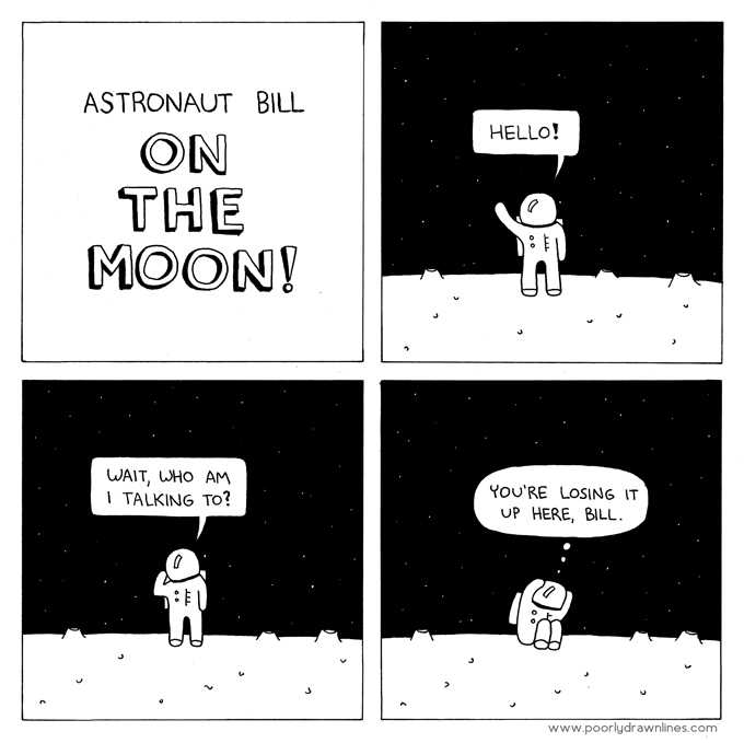 poorly drawn lines astronaut bill